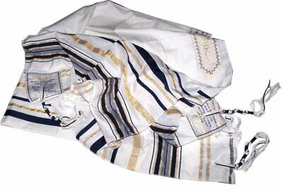 New Covenant Prayer Shawl, English / Hebrew & Bag (Israel) Holy Land (Black)
