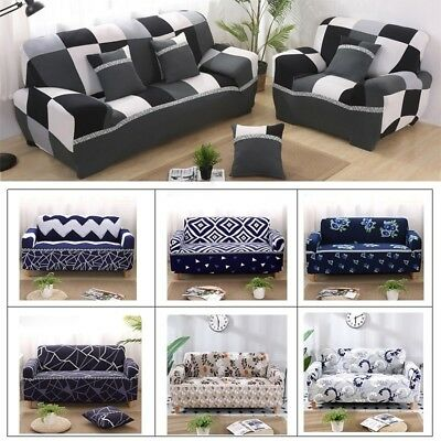 Anti-Slip Elastic Slipcover Stretch Polyester Fabric Soft Protector Couch Cover