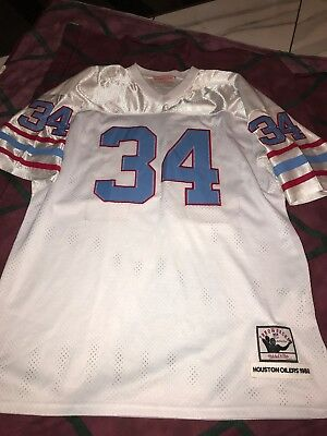 best website dba67 c05cf get houston oilers 34 earl campbell white throwback jersey ...