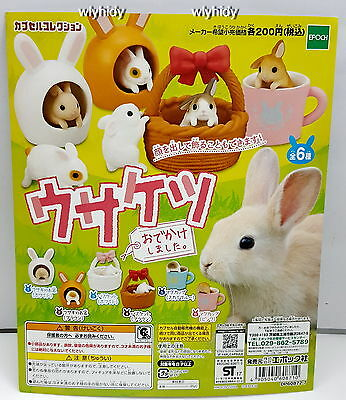 Usagi Rabbit I Ran Out Of A Scam, 6pcs - Epoch  Capsule Toy , h3ok