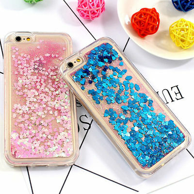 Silicone Sequins Quicksand Gliter Bling Covers Case for iPhone XS XR 7 8 6 Plus