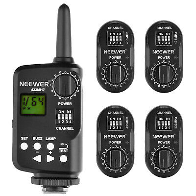 Neewer FT-16 16-Channel Wireless Flash Trigger Set (1) Transmitter (4) Receivers