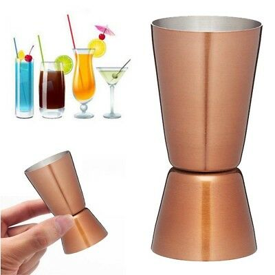 Rose Stainless Steel Double Single Shot Measure Jigger Spirit Bar Cocktail Cup