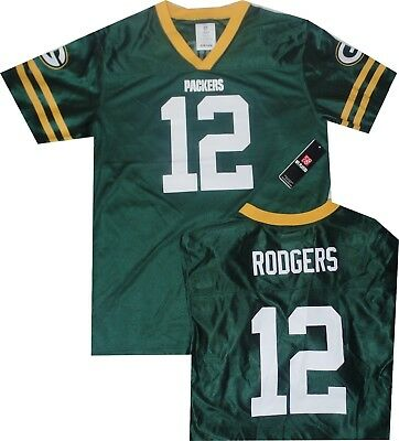 Green Bay Packers Aaron Rodgers Youth Screen Print Youth Jersey Boys XXL  Size 20 83e3c4297