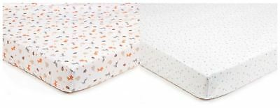 Breathable Baby SUPER DRY COT SHEETS 2 PACK - ENCHANTED FOREST BN