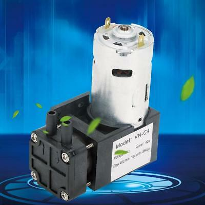 DC24V 42W Mini Small Oilless Vacuum Pump -85KPa Flow 40L/min for Gas Air