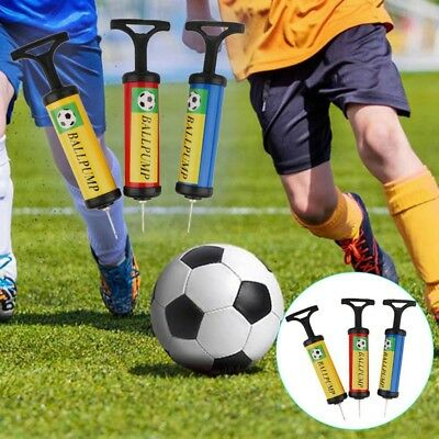 Football Portable Inflator Pump Push Soccer Rugby Ball Needle Inflating Tool UK
