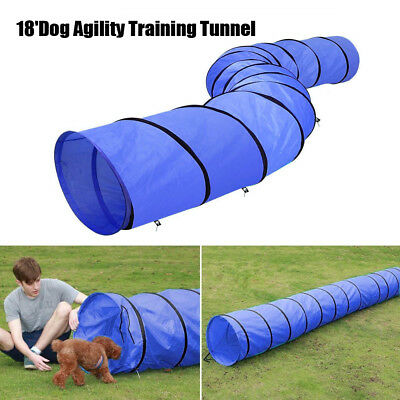 Pet Tunnel Puppy Dog Agility Training 18' Outdoor Run Exercise Playing Equipment