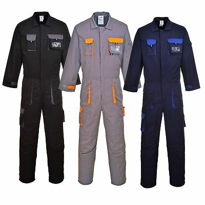 Portwest Texo Coverall Elastic Back Knee Pad Pockets Overall Boilersuit TX15