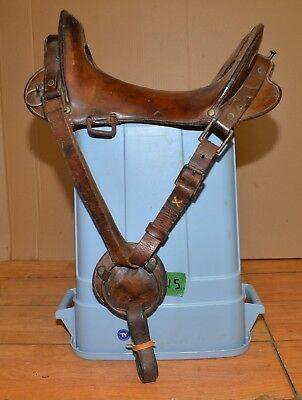Extra clean original military 1900's McClellan saddle 1857 patent collectible