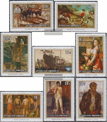Rwanda 359A-366A (complete.issue.) unmounted mint / never hinged 1969 Paintings