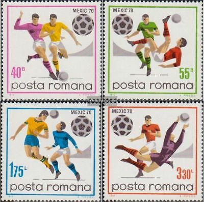 Romania 2842-2845 (complete.issue.) unmounted mint / never hinged 1970 Football-
