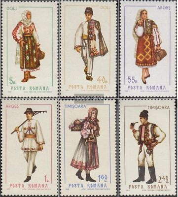 Romania 2739-2744 (complete.issue.) unmounted mint / never hinged 1969 Costumes