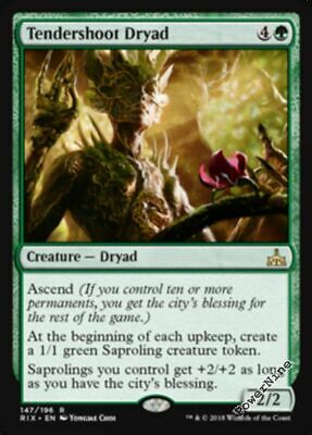 1 Tendershoot Dryad - Green Rivals of Ixalan Mtg Magic Rare 1x x1