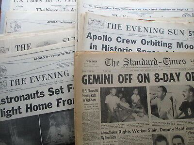 HUGE Lot of FIFTEEN Baltimore MD Newpapers - US SPACE Headlines