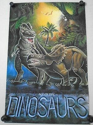 "Age of the Dinosaurs - Original poster in Exc. new cond. / 23 x 35"" / ""1987"""