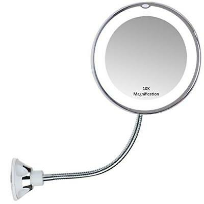 Lighted Makeup Mirror 10x Wall Mount 360swivel Magnify Cosmetic Led