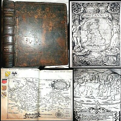 1607 Britannia William Camden 1St Edition 57 Complete Maps England Uk Geography
