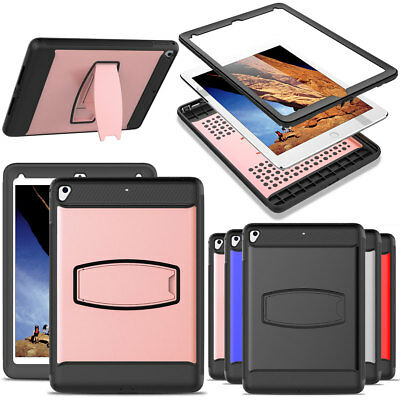 For New iPad 9.7 2018 6th/5th Generation Rugged Stand Case with Screen Protector