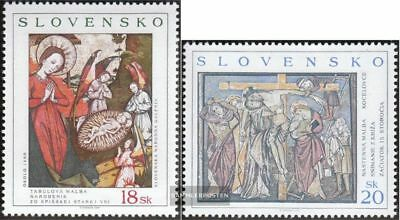 Slovakia 381-382 (complete.issue.) unmounted mint / never hinged 2000 Paintings