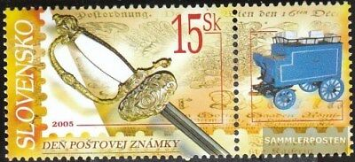 Slovakia 526Zf with zierfeld (complete.issue.) unmounted mint / never hinged 200
