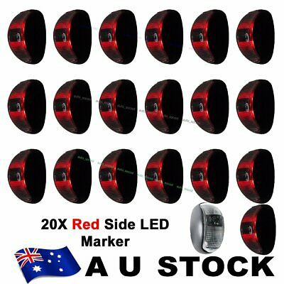 20X 12V 24V Red 2 Led Side Marker Light Lamp Clearance Trailer Truck Ute AU SHIP