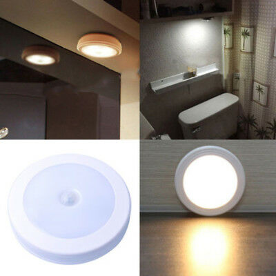 6LED Wireless Motion Sensor Light Wall Cabinet Wardrobe Drawer Lamp With Sticks