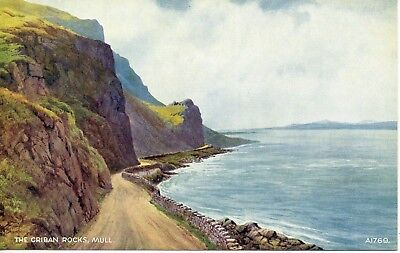 The Criban Rocks, Mull* Water Colour By Edward Thompson * Lovely View (E34)