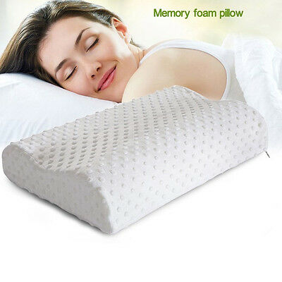 New Therapeutic & Chiropractic Neck Support Pillow Memory Foam Top Seller *h