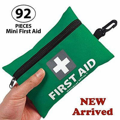 Mini First Aid Kit,92 Pieces Small First Aid Kit - Includes Emergency Foil Blank