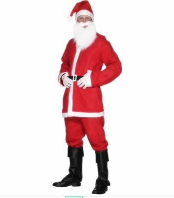 NEW Budget Santa Claus Suit, Xmas Fancy Dress Father Christmas Costume