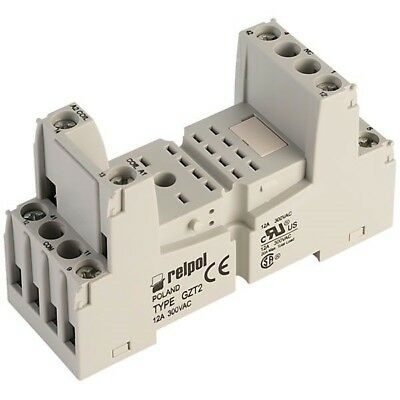 Relpol GZT2 Relay Socket 8 Pin 300V AC 12A DIN