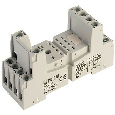 Relpol GZT4 Relay Socket 14 Pin 250V AC 6A DIN