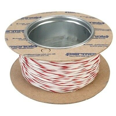 Rapid 100m Reel White/red 7/0.2mm Wire