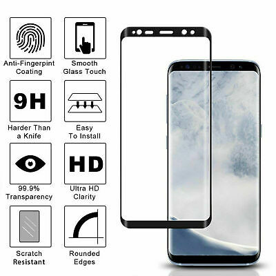For Samsung Galaxy S8 6D Curved Tempered Glass LCD Screen Protector Clear