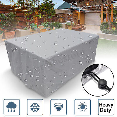 New Garden Patio Furniture Set Cover Waterproof Covers Rattan Table Cube Outdoor