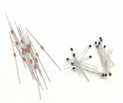 30pcs Epoxy Coated And Glass Rods Thermistor 10k 1% 25C [captain2011]