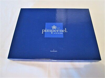 "Boxed Set of 6 Pimpernel Portmeirion Botanic Blue 12"" Placemats"