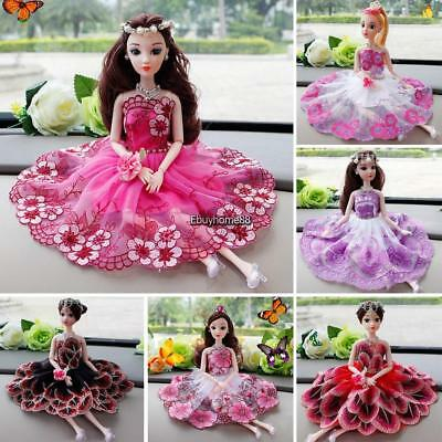 Kids Fashion Gorgeous Lace Doll Dress Toy Doll Accessory EHE8