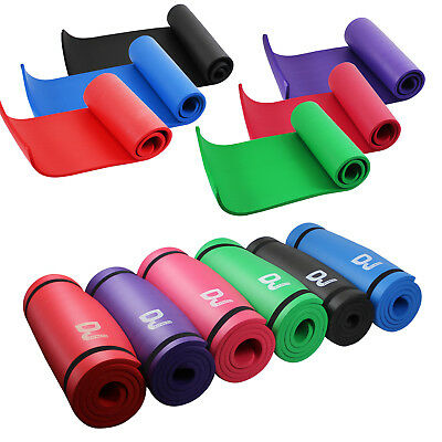 NBR Yoga Mat Pilates Gym Exercise Carry Strap 15mm Thick Large Fitness Workout