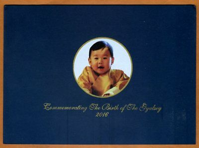 Bhutan,  100 Ngultum, 2016 (2018), Royal Baby Commemorative, Folder, UNC