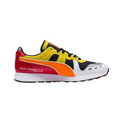 PUMA RS-100 X Roland - Men s Black White Vibrant Orange 36840501 a31d0ae68