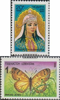 Uzbekistan 1,2 (complete.issue.) unmounted mint / never hinged 1992 Nadira, Flor
