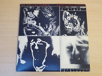 EX- !! The Rolling Stones/Emotional Rescue/1980 Rolling Stones LP + Poster