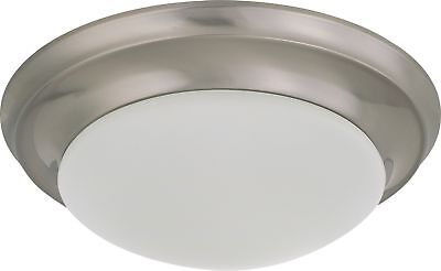 "Nuvo - 12"" Flush Mounted LED Fixture Frosted Glass Brushed Nickel - 62-786"