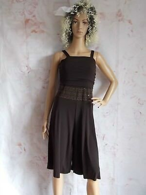 451373cfb3b8 Vintage 80s Brown Go Go Romper Culottes JumpSuit size 8 10 by I.N.Girl (