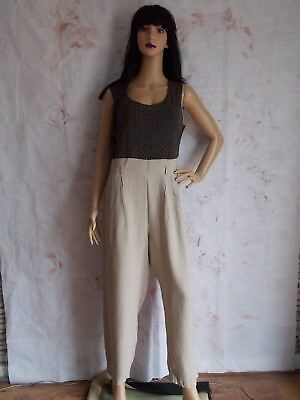 ccf999bbe38f Vintage 80s Beige Go Go Romper JumpSuit size 12 14 by JohnRoberts (B27)