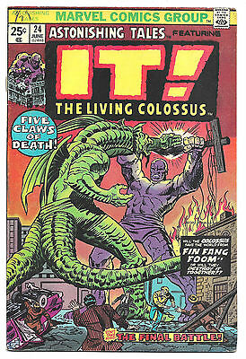 Astonishing Tales # 24 Marvel Comics 1974 It the Living Colossus / Fin Fang Foom
