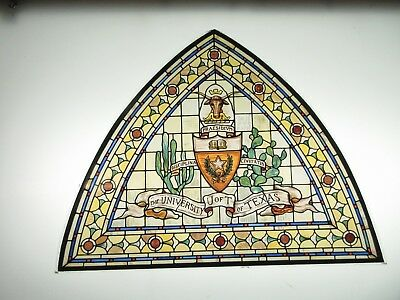 Glassmasters: Stained glass window from Texas Tower, Austin  9.5  x 7 inches.