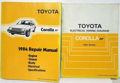1984 toyota corolla ff 3 5 door sedan ee80 repair manual supp rh picclick com
